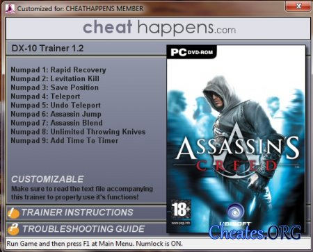 Трейнер DX10 для игры Assassin's Creed