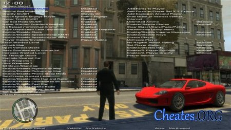 "Трейнер ""Simple Native Trainer 6.2"" для GTA 4"